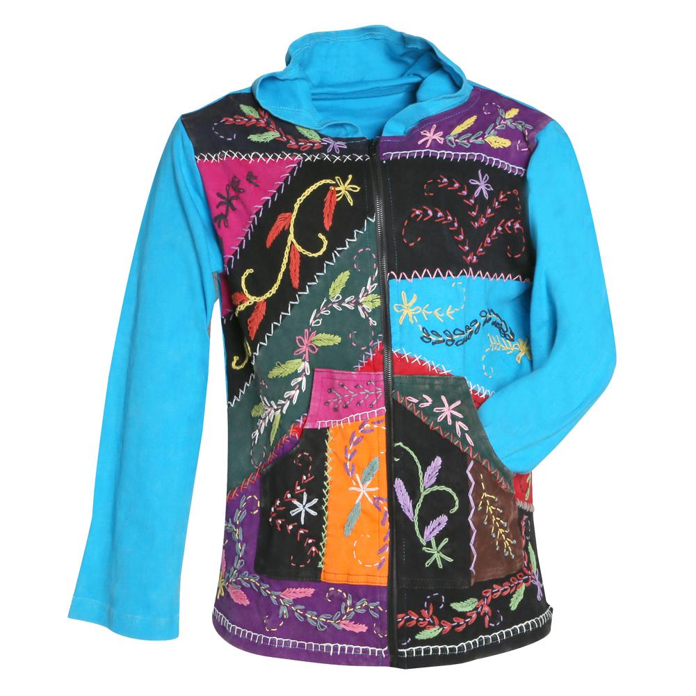Folk art hoodie