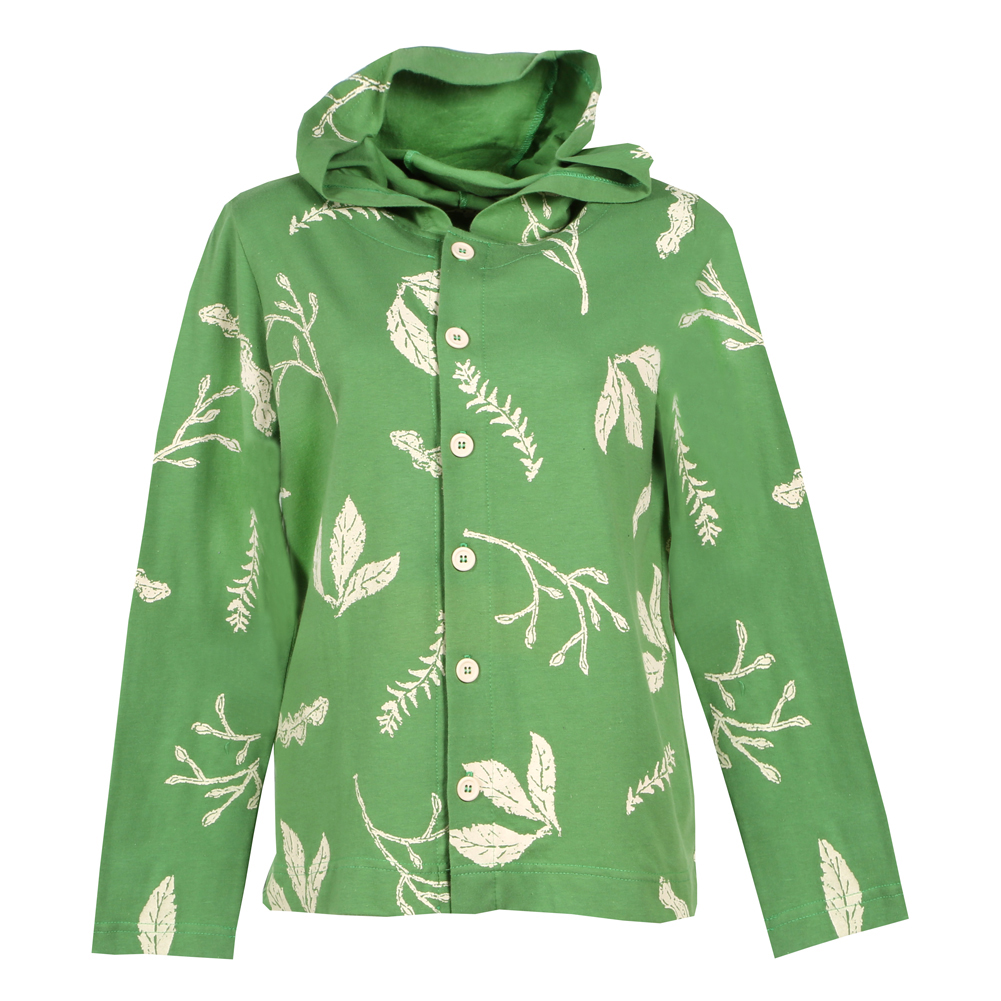 SIGNALS Leaf Print Cotton Shirt Jacket