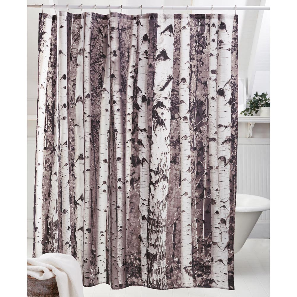 birch trees shower curtain step through a stand of birch trees into ...