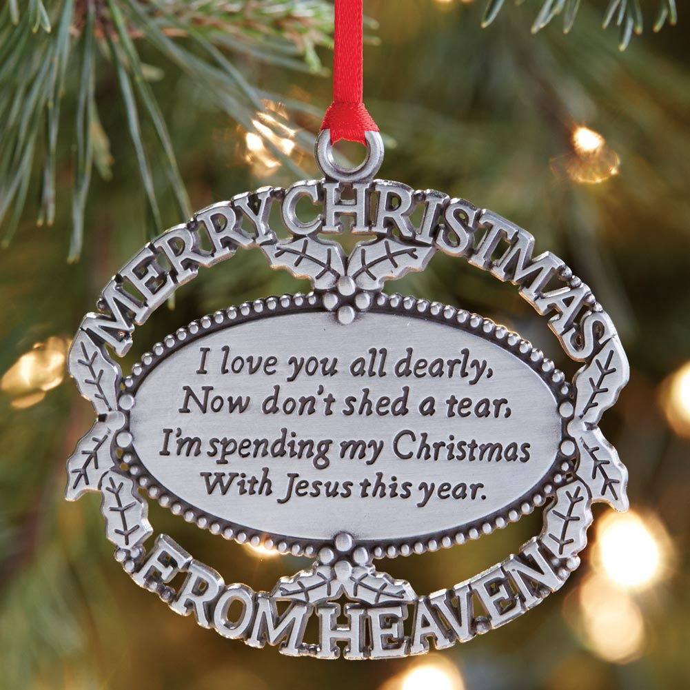 Merry Christmas From Heaven - Lost Loved One Memorial ...