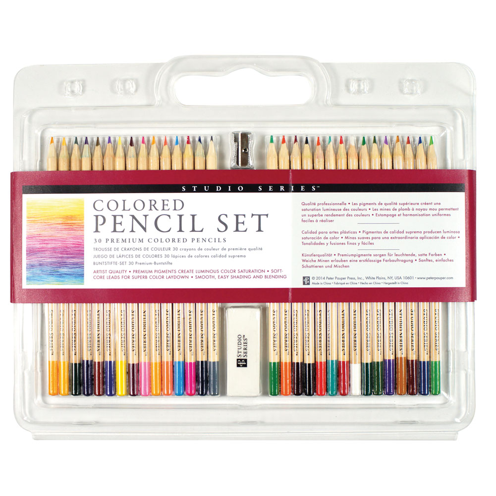 Colored Pencils For Grown Up Coloring Studio Series Colored Pencil Set 30 Colors Perfect for