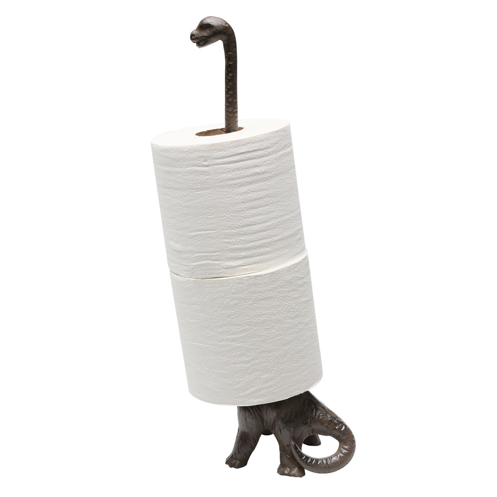 Dinosaur Toilet Paper Towel Holder Stand Long Neck Brontosaurus Kitchen Bath