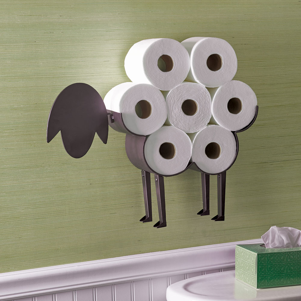 Sheep Decorative Toilet Paper Holder Free Standing Bathroom Tissue Storage Ebay