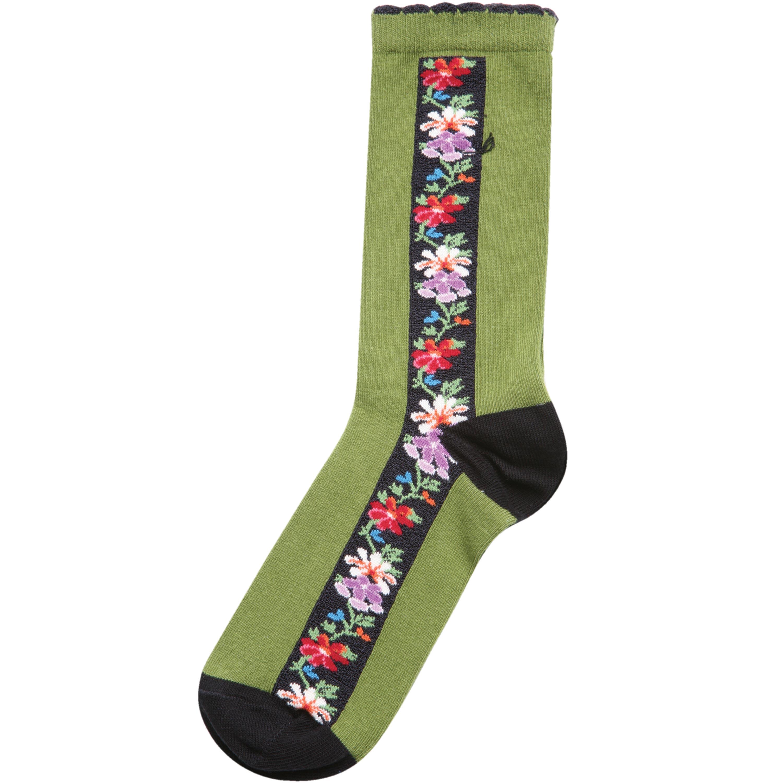 OZONE Women's Edelweiss Striped Cotton Socks