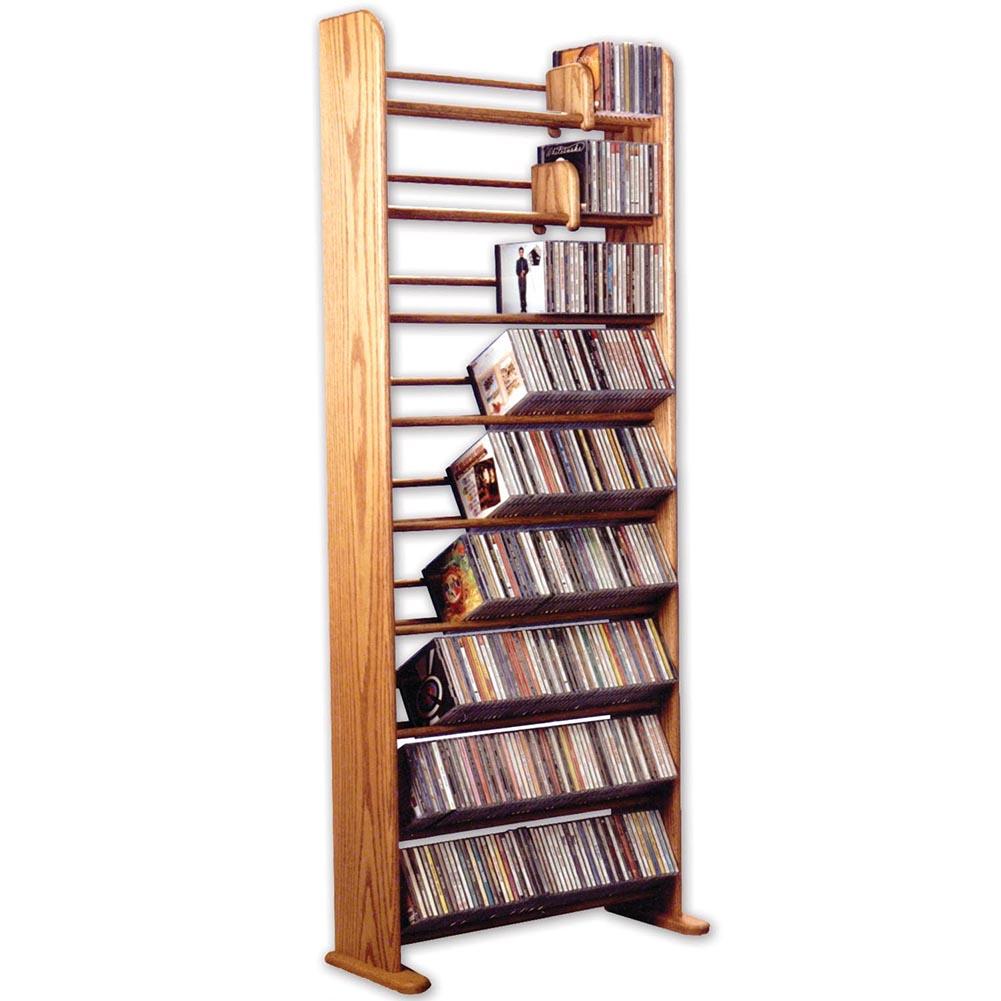 Universal Direct Brands Dvd Or Cd Media Storage Shelves, Oak Wood - Book Rack