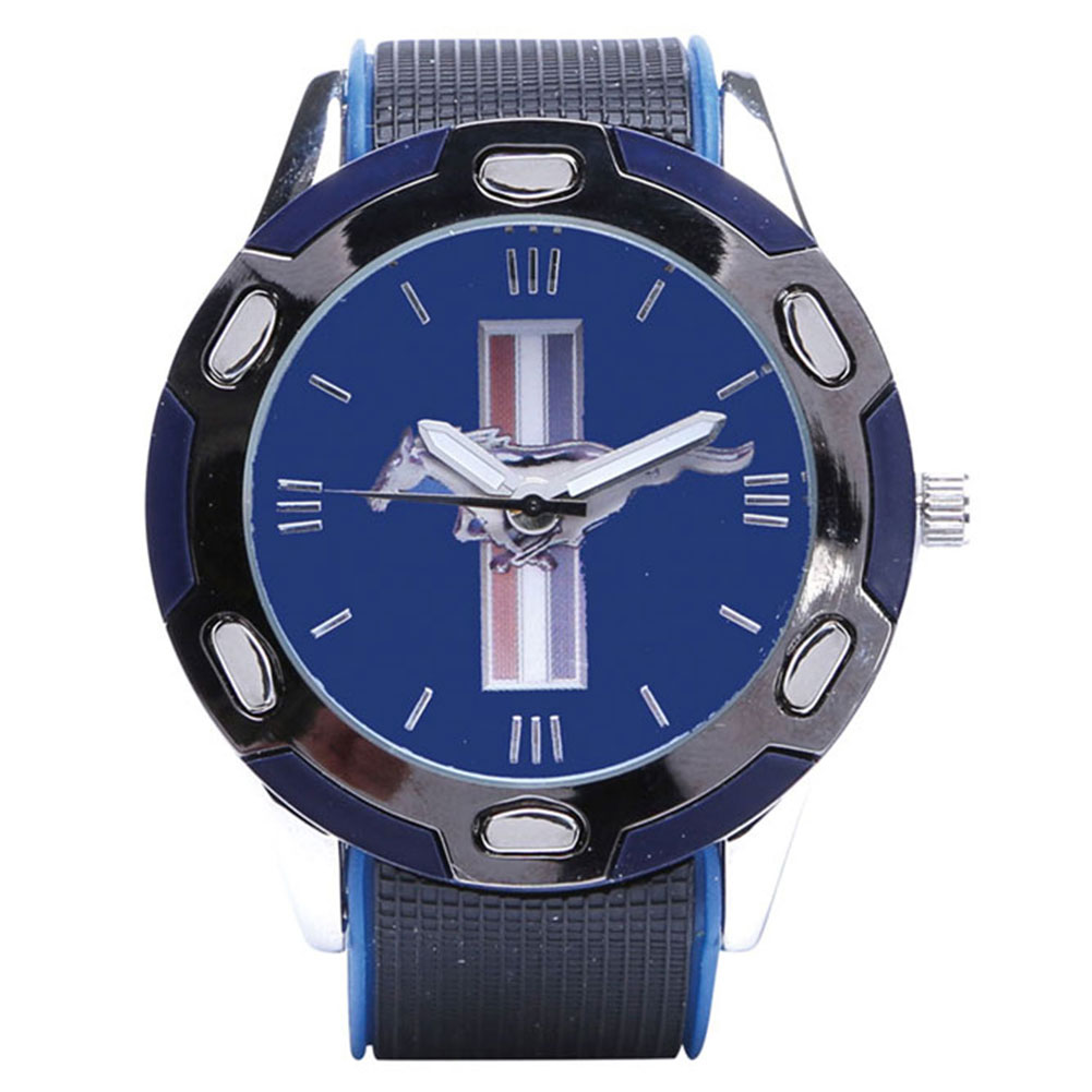 Ford Mustang Blue Wrist Watch